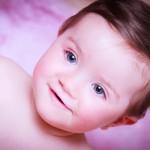 Sesión foto bebé ojos azules
