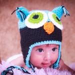 Foto bebé con gorrito de búho