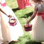 foto boda niñas con cesta