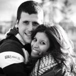 foto preboda pareja sonriendo