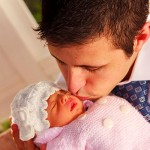 Foto de padre con su bebé
