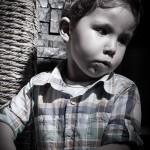 Sesión foto peque en blanco y negro