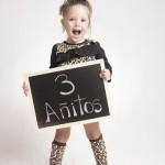 Foto niña de tres añitos