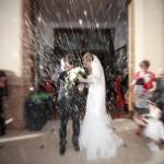 Foto salida de la iglesia boda Ana Maria Morales
